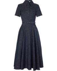 Emilia Wickstead Vestido camisero Jody en mezcla de algodón - Azul