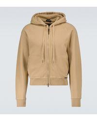 Tom Ford - Zipped Hooded Sweatshirt - Lyst