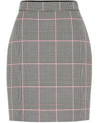 MSGM Glen-checked Cushioned-twill Mini Skirt - Multicolor