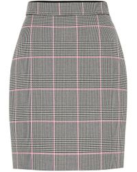 MSGM Glen-checked Cushioned-twill Mini Skirt - Multicolour