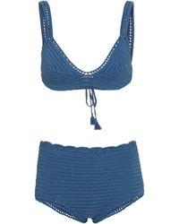 Valentino – Bikini en crochet de coton - Bleu