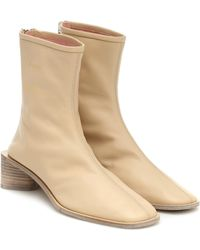Acne Studios Exclusive To Mytheresa – Leather Ankle Boots - Natural