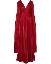 Marchesa notte Vestido de fiesta con capa de lamé - Rojo