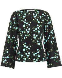 BERNADETTE Gemma Floral Jersey Top - Black
