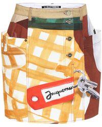 Jacquemus La Jupe De Nîmes Cotton Skirt - Natural
