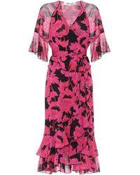 Diane von Furstenberg Robe portefeuille Zion imprimée en nylon - Multicolore