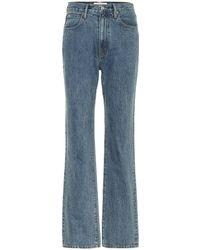 SLVRLAKE Denim London High-rise Straight-leg Jeans - Blue