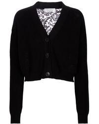 Valentino Cárdigan de algodón - Negro