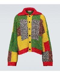 JW Anderson Cárdigan Anchor de patchwork - Multicolor
