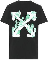 Off-White c/o Virgil Abloh T-shirt imprimé Corals - Noir