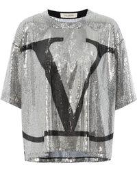 Valentino Top aus Pailletten - Mettallic