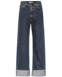 Helmut Lang Jeans a gamba larga Dark Femme Hi - Blu