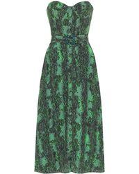 ROTATE BIRGER CHRISTENSEN Kleid mit Schlangenleder-Print - Grün