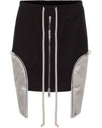 Rick Owens Les Asymmetric Miniskirt - Black