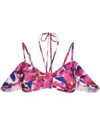 Isabel Marant Top de bikini Skyros floral - Rosa