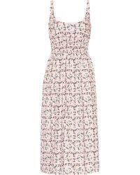Emilia Wickstead Giovanna Floral Midi Dress - Pink