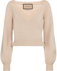 Gucci Pullover aus Wolle - Natur