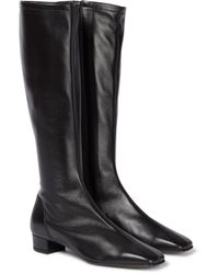 BY FAR Edie Leather Knee-high Boots - Black