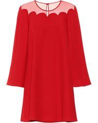 Valentino Kleid aus Seide - Rot