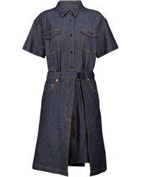 A.P.C. - X sacai vestido corto Keiko de jeans - Lyst