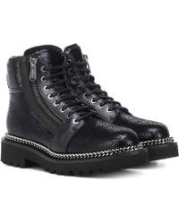 Balmain Ranger Sequinned Ankle Boots - Black