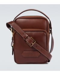 Tom Ford Logo Patch Messenger Bag - Brown