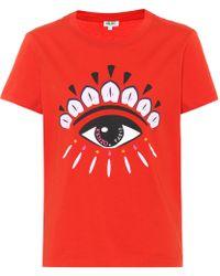 KENZO - Eye Printed Cotton T-shirt - Lyst
