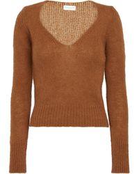 Dries Van Noten Jersey de punto en mezcla de lana - Marrón