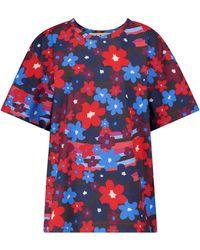 Marni Top de popelín de algodón floral - Azul