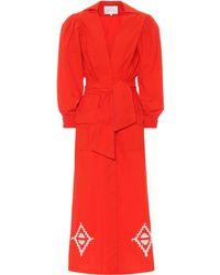 Johanna Ortiz Kleid Amazon Flavor aus Baumwolle - Rot