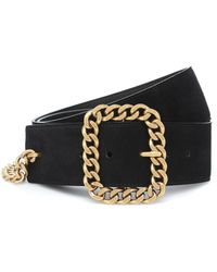 Saint Laurent St Sulpice Square Chain-buckle Belt - Black