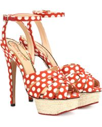 Charlotte Olympia Dolly Polka-dot Plateau Sandals - Multicolour