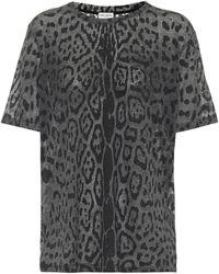 Saint Laurent Camiseta con estampado de leopardo - Neutro