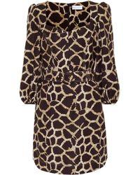 Rebecca Vallance Acacia Linen-blend Minidress - Multicolour