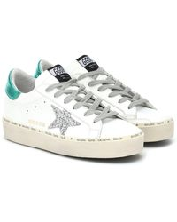 Golden Goose Deluxe Brand Plateau Sneaker mit Stern-Logo - Weiß