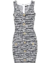Balmain Tweed Minidress - Multicolour