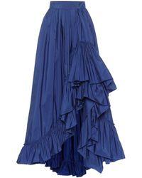 Max Mara Abadan Taffeta Maxi Skirt - Blue