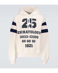 Gucci Bedruckter Hoodie 25 - Weiß