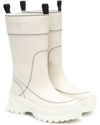 Stella McCartney Trace Utility Faux Leather Boots - White