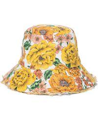 Zimmermann Chapeau bob en lin à fleurs - Multicolore