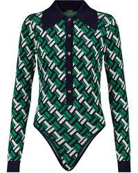 Dodo Bar Or Jacquard Bodysuit - Green