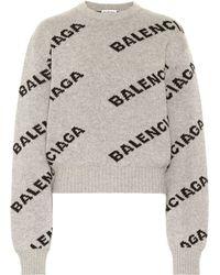 Balenciaga Pullover aus Wolle - Grau