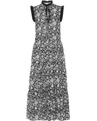 See By Chloé - Floral Cotton-voile Midi Dress - Lyst