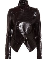 Ann Demeulemeester Leather Jacket - Brown