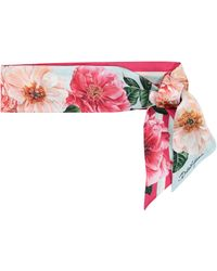Dolce & Gabbana - Foulard en soie à fleurs - Lyst