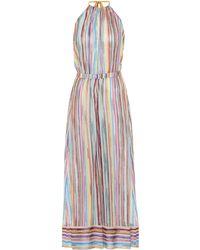 Missoni Striped Knitted-mesh Halter Jumpsuit - Multicolour