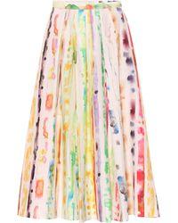 Rosie Assoulin - Falda de algodón elastizada plisada - Lyst 6070ab02f598