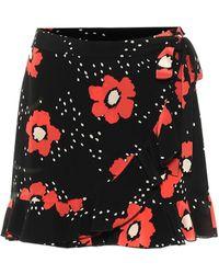 RED Valentino Minirock aus Seide - Schwarz