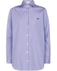 Etro - Camisa de algodón a rayas - Lyst