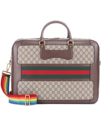 Gucci - Coated Canvas Travel Bag - Lyst